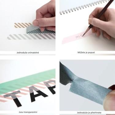 Jak se pracuje s washi páskami?, zdroj: bellarose.cz